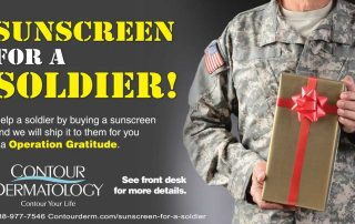 Sunscreen for a soldier