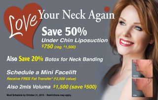 Mini Facelift & Under Chin Liposuction - Save 50% - October 2014 Specials