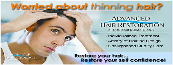 Don;t live with thinning hair one more second, call us 760-423-4000 to schedule a hair restoration consultation