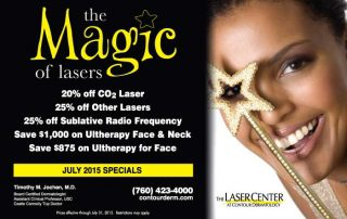 Save on Laser Treatments with our July 2015 Specials