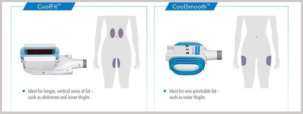 Our CoolSmooth Pro, CoolSculpting head is just the right size to take care of those irritating lumps and bumps on your outer thighs.