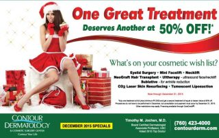December 2015 Specials -Buy one treatment get another at 50% off