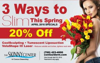 Get Slim This Spring with April Specials, CoolSculpting, Liposuction, and VelaShape III!