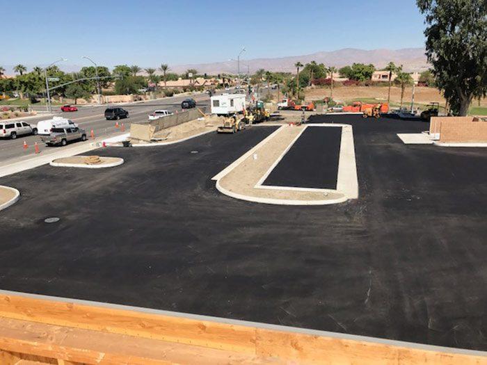 La Quinta New Paved Parking Lot