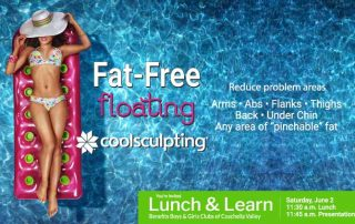 CoolSculpting Lunch and Learn on Saturday, June 2, 2018